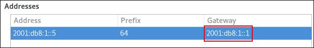 definir gw padrão em nm editor de conexão ipv6