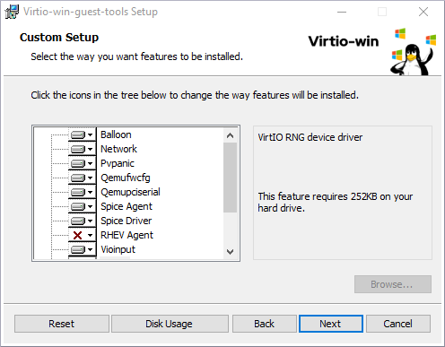 virtio win installer 2