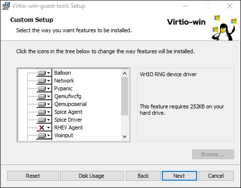 virtio win installer 2