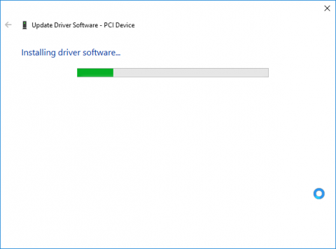 device manager sw update wizard page 2