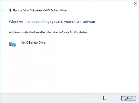 device manager sw update wizard page 3