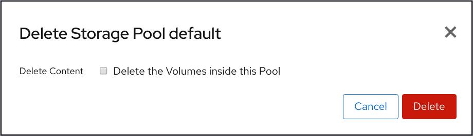 cockpit storage pool delete confirm