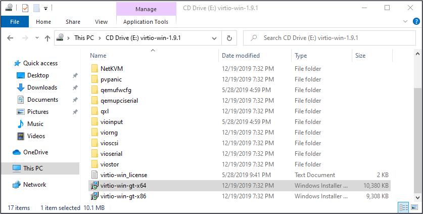 virtio win installer 1