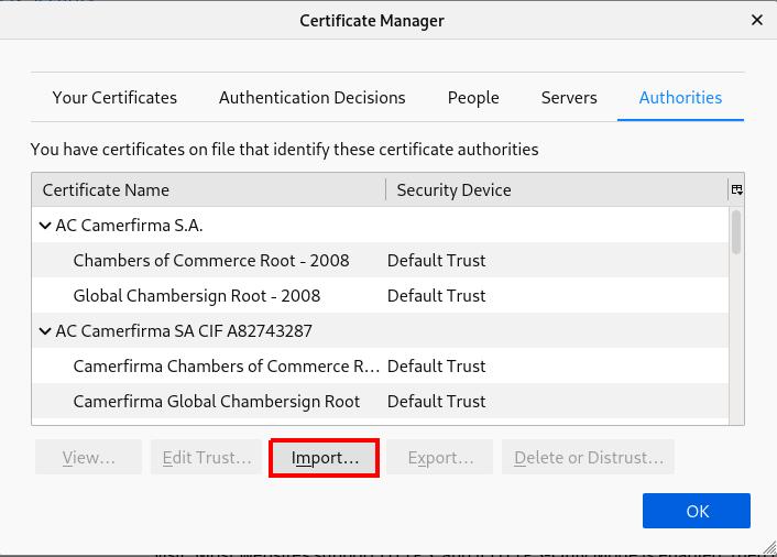 firefox import certificates