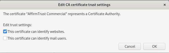 firefox editing certificate