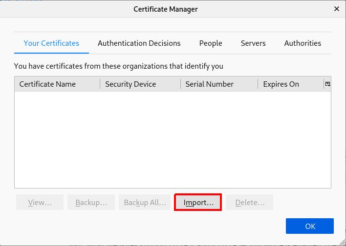 firefox import custom certificate