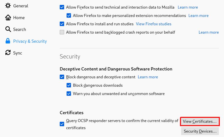 firefox view certificates
