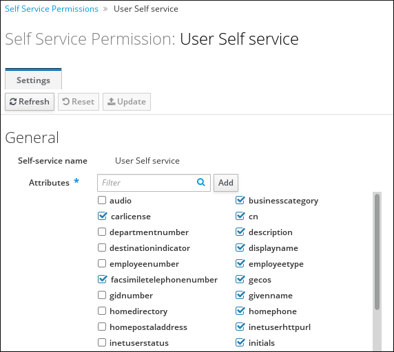 Editing an existing self-service rule