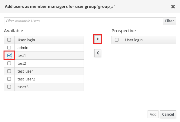 groups add member managers users