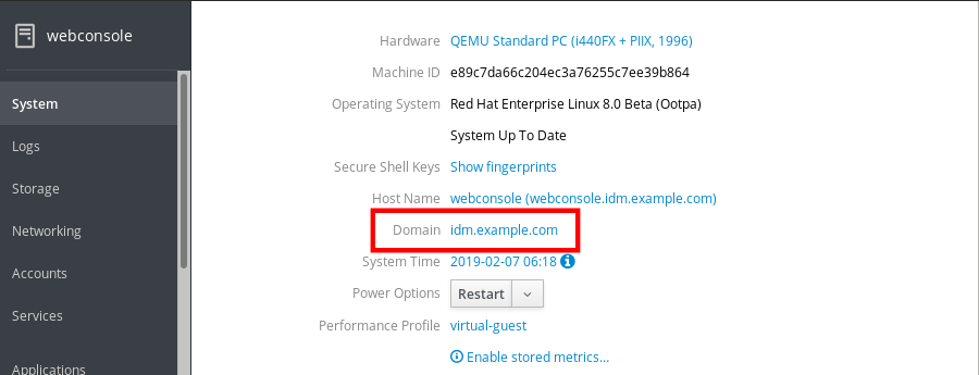 idm cockpit domain added