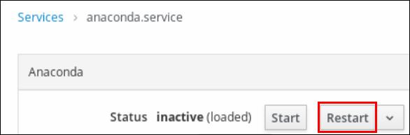 restart service