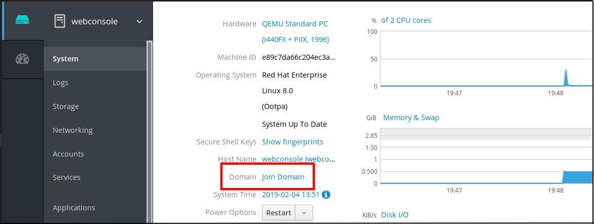 присоединение домена idm cockpit