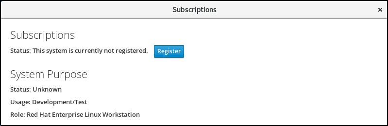 cockpit subscription notregistered
