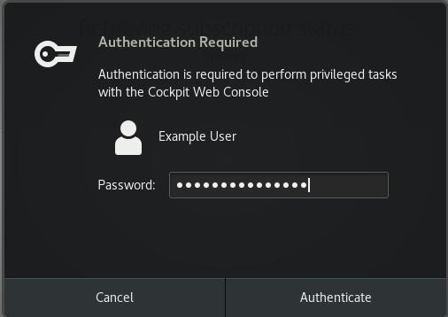 cockpit subscription password