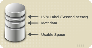 LVM Physical Volume Layout