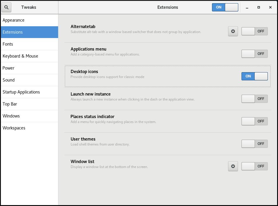 desktop icons on