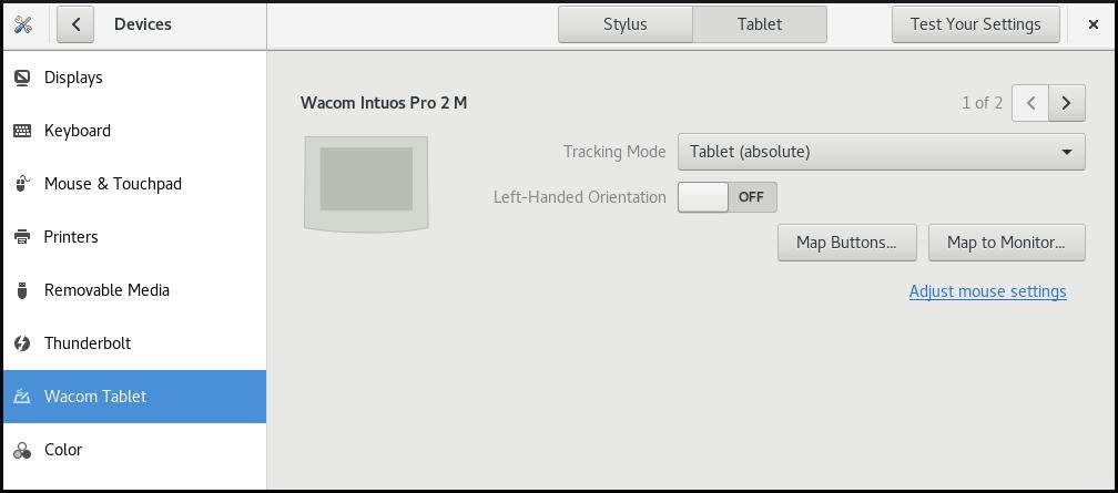 Configuración de la tableta Wacon