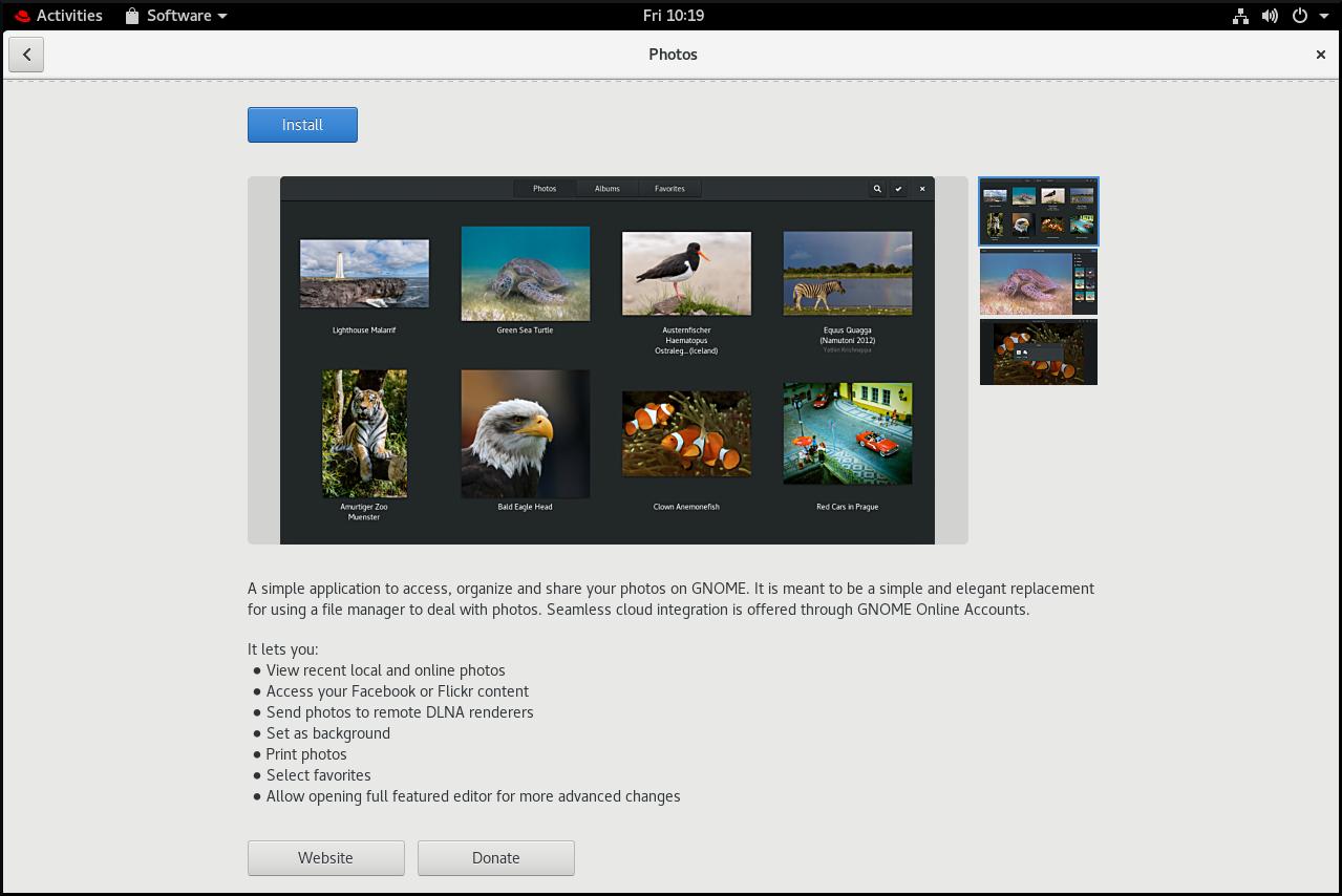 gnome software instalar fotos2 nuevo