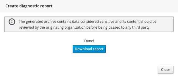 diagnostics report download