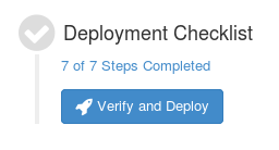 Verify and Deploy