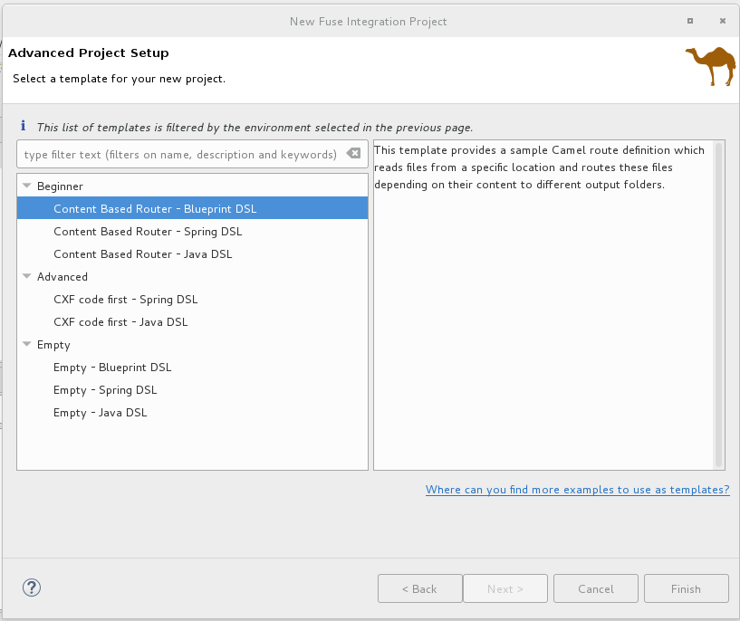 Chapter 1  Creating a New Fuse Integration Project Red Hat