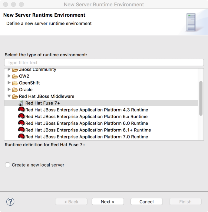 New Server Runtime Environment