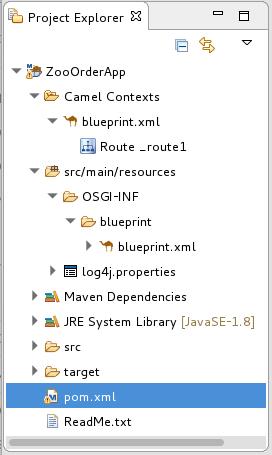 Generated blueprint.xml and pom.xml files
