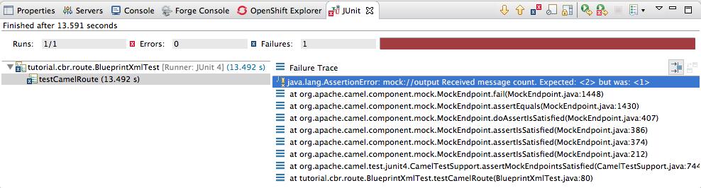 JUnit failure