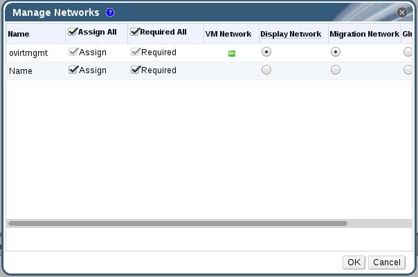 Manage Networks Window