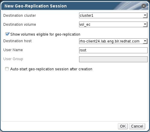 New Geo-replication session