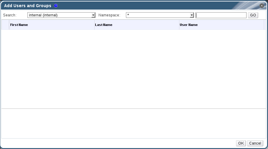 Add Users and Groups Dialog Box