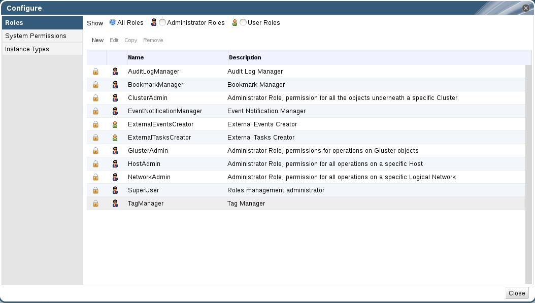 The Configure Dialog Box