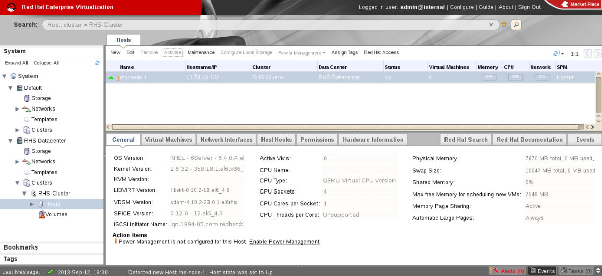 Red Hat Gluster Storage Node after Upgrade