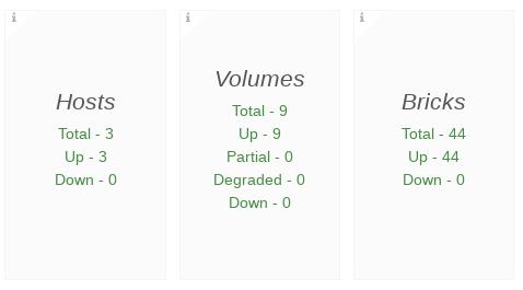 hosts volumes bricks