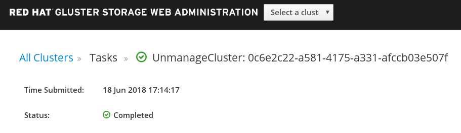 unmanage cluster 5