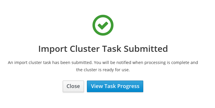 Import Cluster