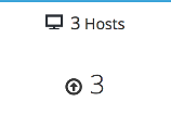 The hosts widget with 3 hosts showing