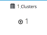 The cluster widget with one cluster showing