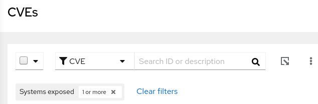 img vuln assess cve filters