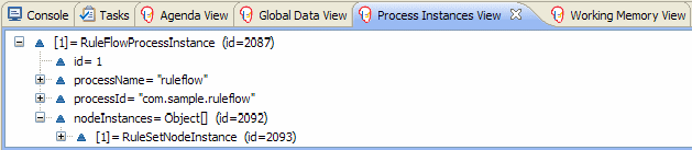 Sample Process Instances View