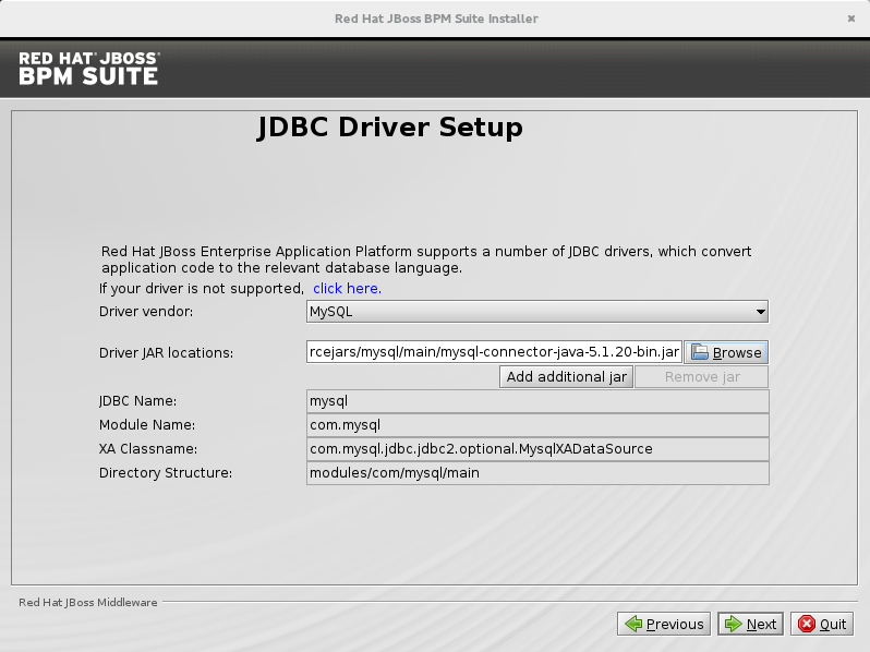 Configure JDBC provider and drivers