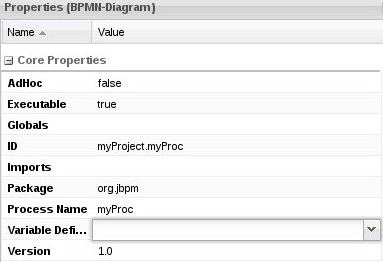 Variable definition input field with the arrow for calling the editor.
