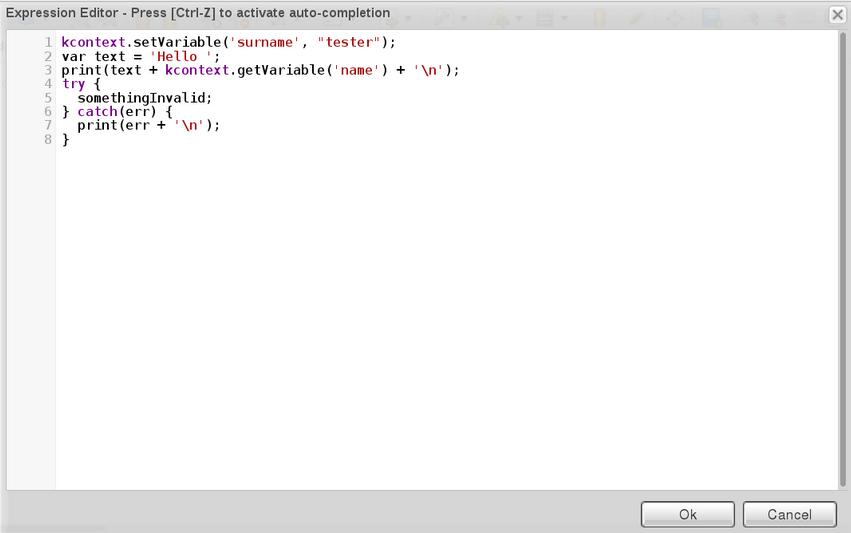 Script Task JavaScript