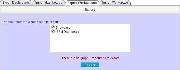 export workspaces