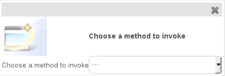 The invoke method dialogue box for JBoss BRMS 6.0.3 Test Scenario features