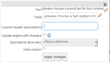 Field Value with Work Item Parameter in Guided Decision Table Editor in BRMS User Guide 6.0.2