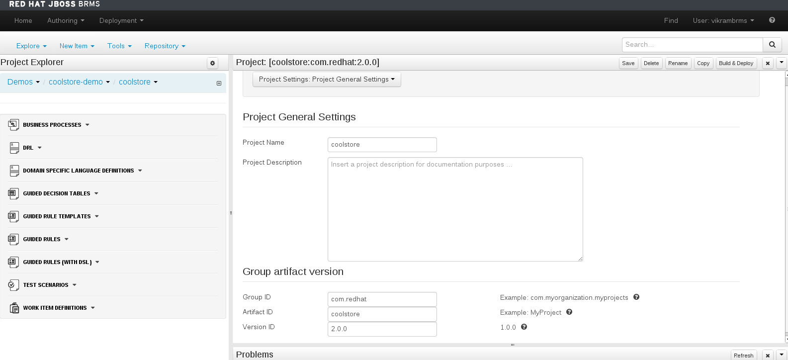 Project Editor - Project Settings