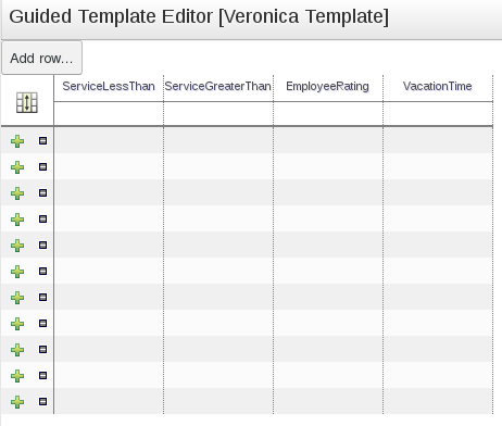 An Example Guided Template Editor Data table for the BRMS User Guide 6.0.2