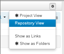 Changing to Repository View