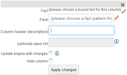 Field Value column for the Guided Decision Table Editor in BRMS User Guide 6.0.2